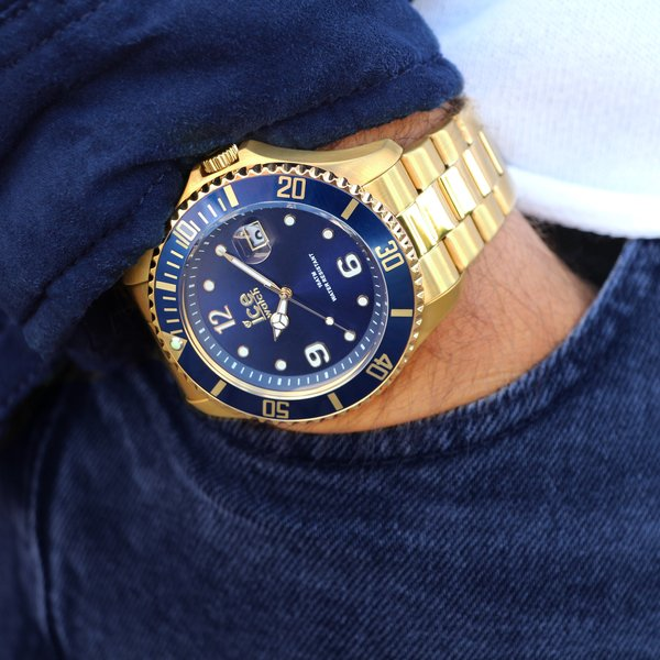 ICE steel - Gold blue