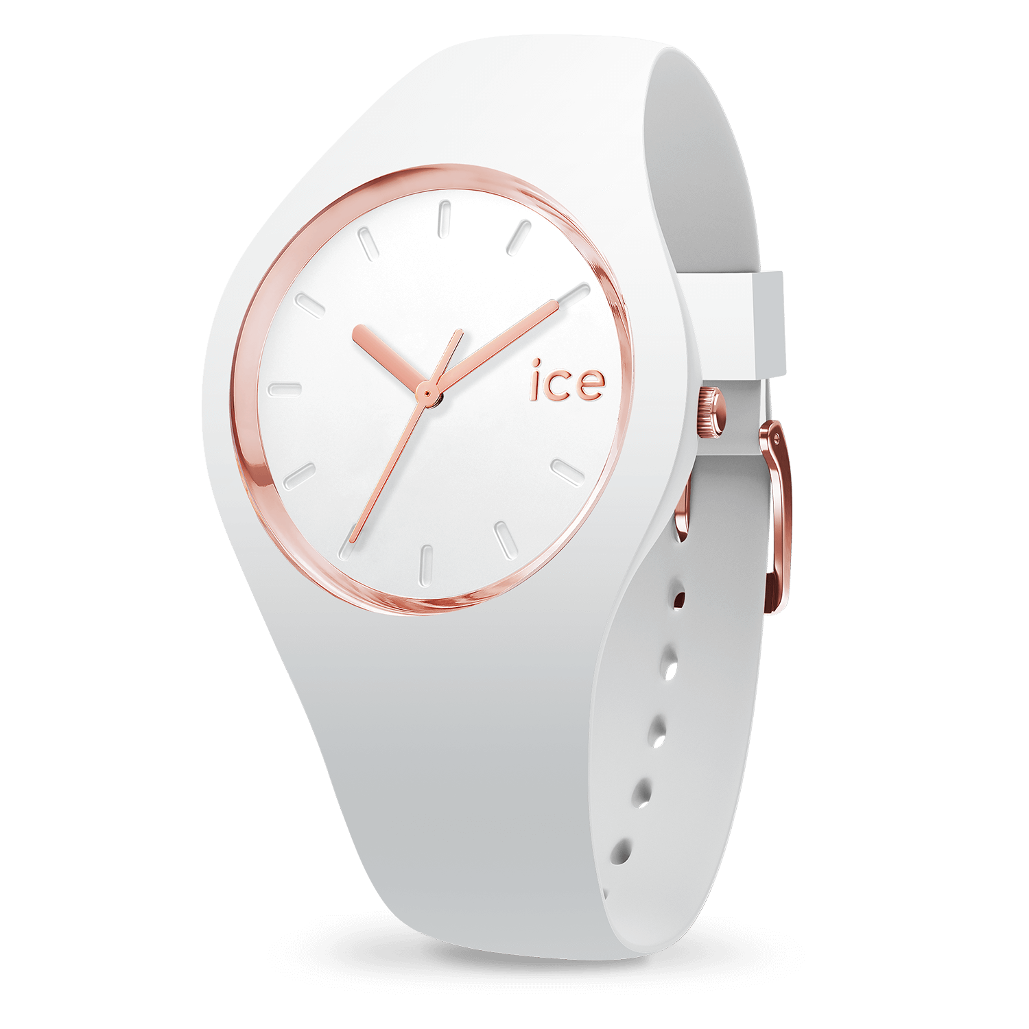 837aeab4aae546 Montre Ice-Watch   ICE glam blanche or rose - moyenne