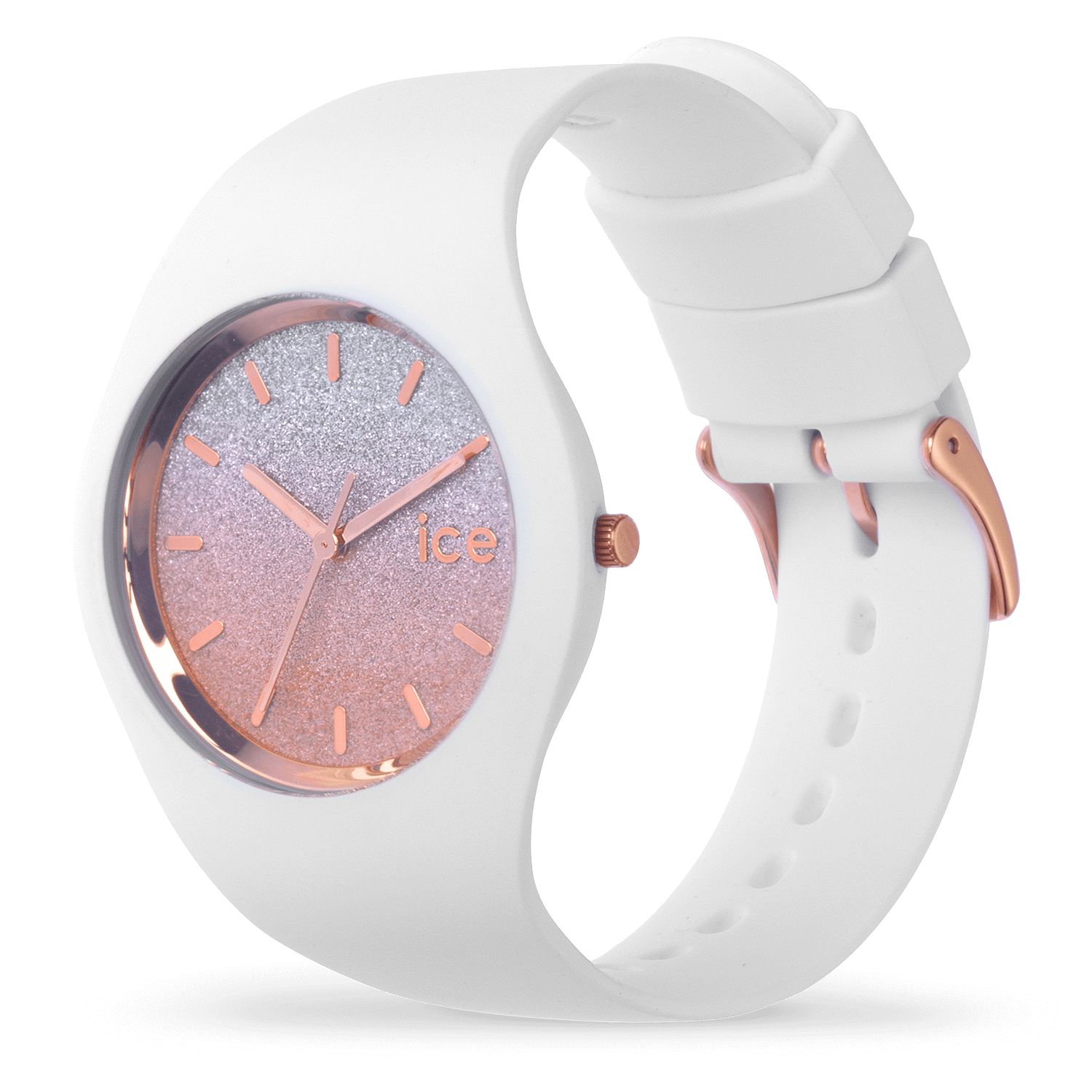 meilleur pas cher b21fa cf8b4 Montre Ice-Watch | ICE lo blanche rose - moyenne