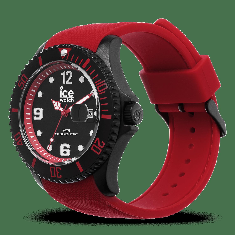Ice Rouge Montre WatchSteel Grande Noire OXP8nwk0
