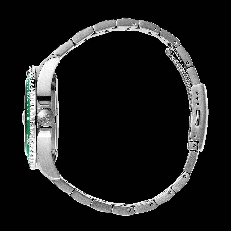 Mittel Silber Größe Uhr Ice Grün WatchSteel Nnw80m