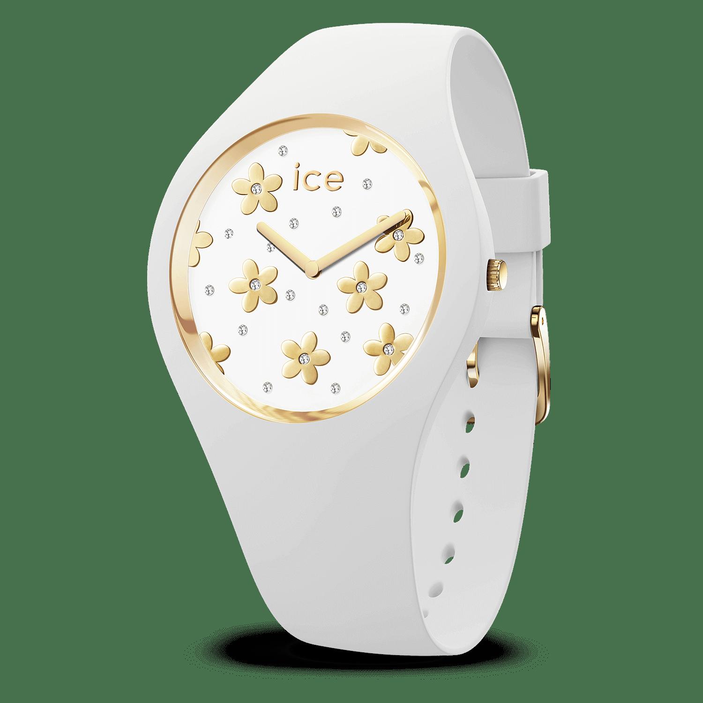 Montre Ice-Watch   ICE flower precious blanche - moyenne