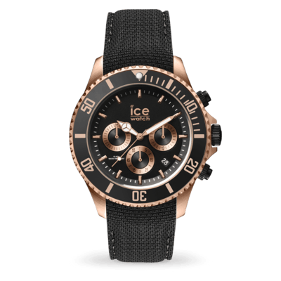 ICE steel - Black Rose-Gold - Chrono