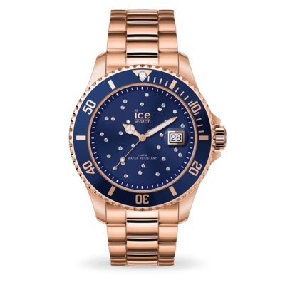 ICE steel - Blue cosmos rose-gold