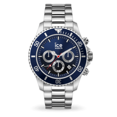 ICE steel - Marine silver - Chrono
